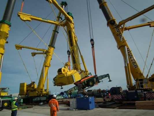 Toppled Liebherr crane recovered by Crowland Cranes